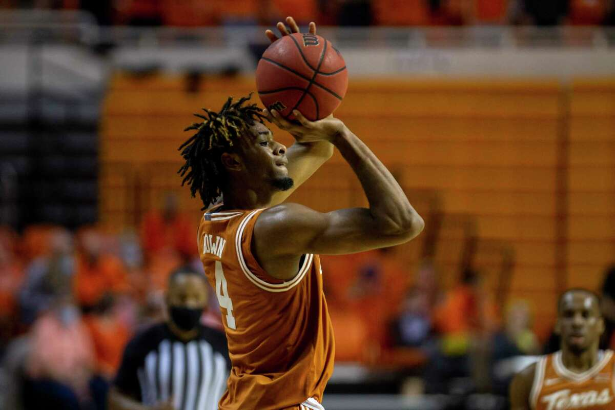 In addition to another highlight reel dunk, Texas forward Greg Brown was on target shooting 3-pointers Tuesday night as the freshman hit 4 of 5.