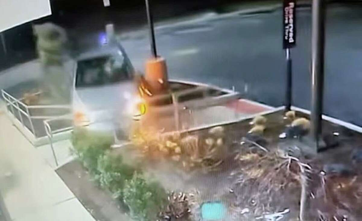 A driver crashed into the McDonald's at 536 Post Road in Fairfield, Conn., around midnight on Jan. 29, 2021.