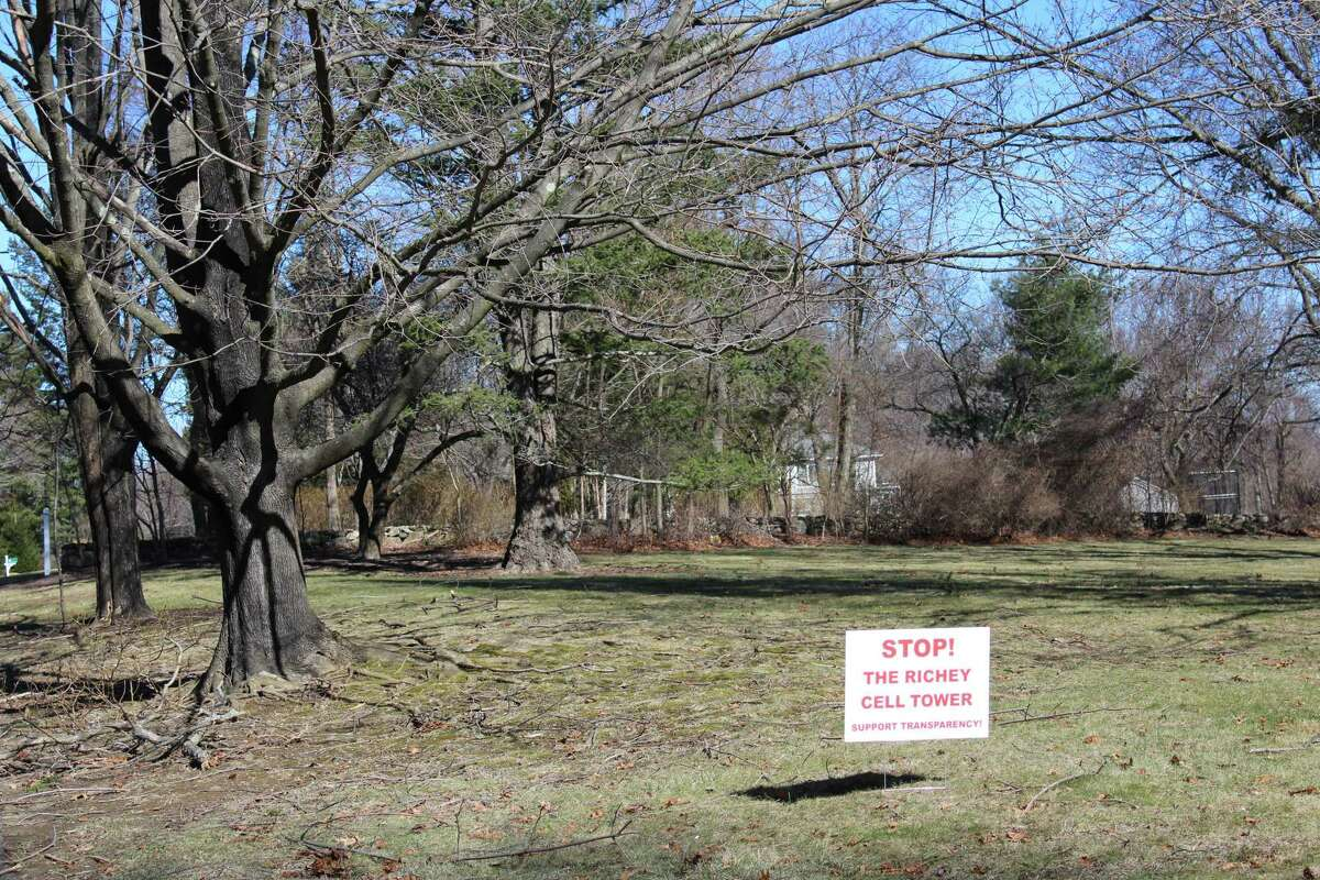 Signs like this have sprung up on Soundview Lane in years past in opposition to Keith Richey's plans for a cell tower.