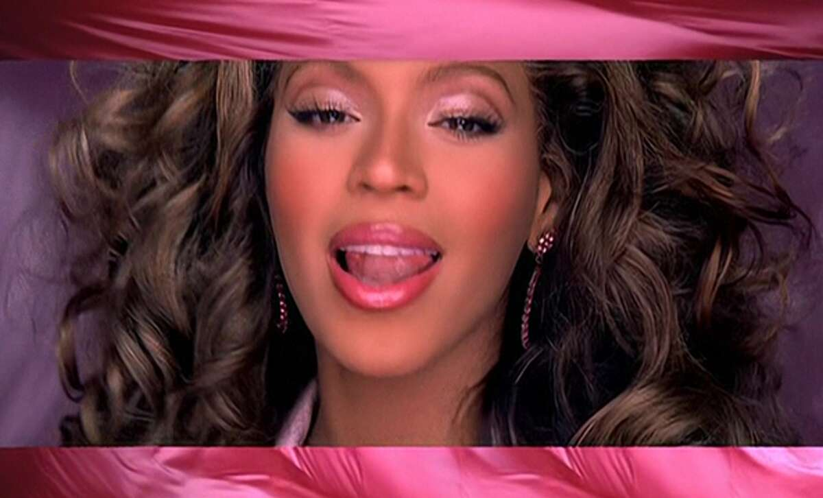 Beyoncé appearing in her hit single