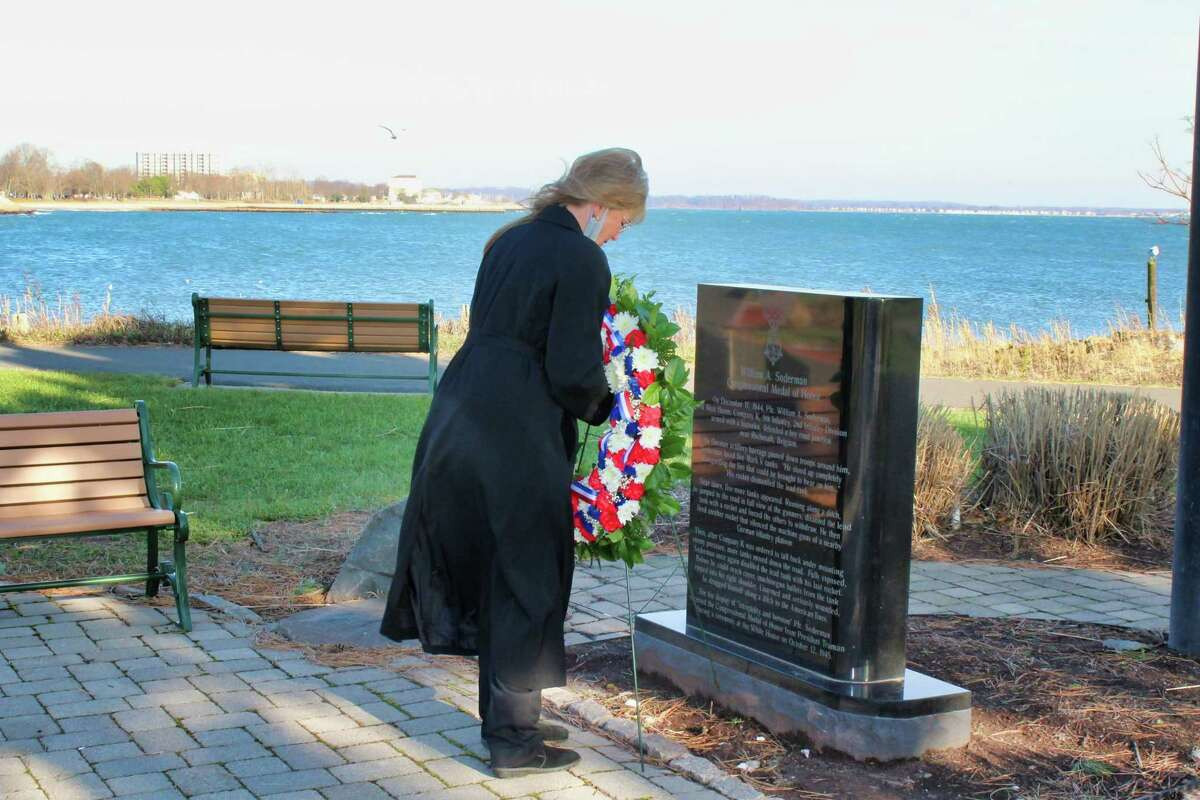 West Haven officials and the West Haven Veterans Council commemorated Pearl Harbor Remembrance Day on Dec. 7 with a virtual ceremony, which can be seen on the city's YouTube channel. Rossi delivered poignant remarks honoring the American patriots who made the ultimate sacrifice 79 years ago during Japan's surprise attack on Pearl Harbor. The solemn service also featured remarks by U.S. Sen. Richard Blumenthal, D-Conn., and Veterans Council President Dave Ricci. Louis P. Esposito Jr., Rossi's executive assistant, served as the master of ceremonies. Representing the Pearl Harbor Survivors Association, Florence Stoeber, the wife of the late Jack Stoeber, a Navy veteran of Pearl Harbor and Iwo Jima who was a regular at West Haven's Pearl Harbor rites for many years, read the names of the 18 Connecticut servicemen who died at Pearl Harbor. Capt. William S. Johnson IV, joined by members of the West Haven Fire Department Honor Guard, tolled the department's chrome bell each instant a name was called.