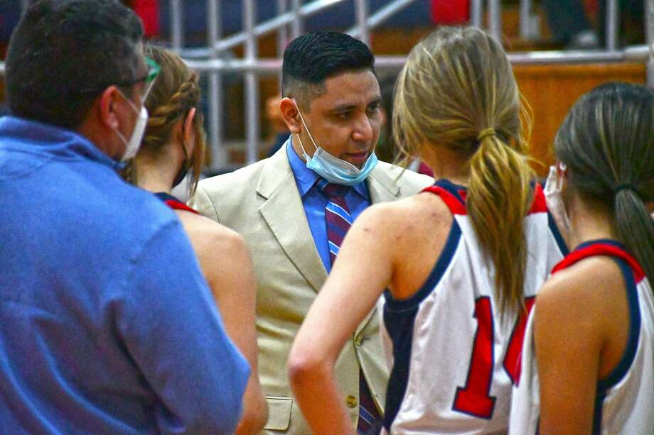 Head coach Adrian Alfaro and the Plainview Lady Bulldogs earned the No. 2 seed out of District 3 for the Class 5A playoffs. Photo: Nathan Giese/Planview Herald