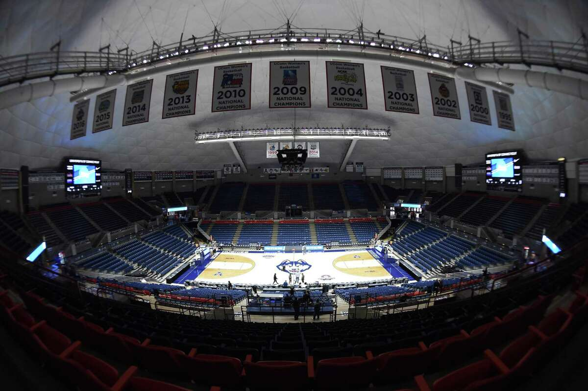 STORRS, CT - MARCH 22: General arena view prior to the NCAA Division I Women's first round game as the Buffalo Bulls take on the Rutgers Scarlet Knights on March 22, 2019 at the Gampel Pavilion in Storrs, Connecticut. (Photo by Williams Paul/Icon Sportswire via Getty Images)