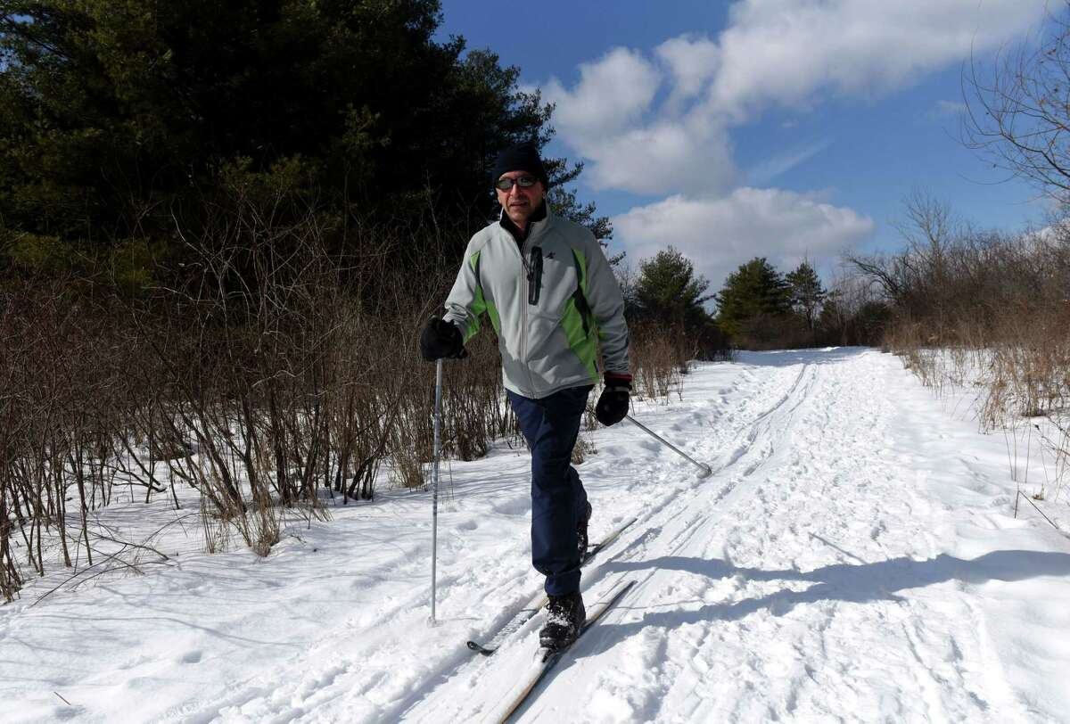 This popular nature center near Albany is a great destination to hike, snowshoe or cross-country ski with nearly 450 acres of snowy fields, icy streams and frozen ponds. Guided and self-guided tours take you through scenic natural settings, where encounters with fascinating wild creatures are a routine occurrence. TRAIL INFO