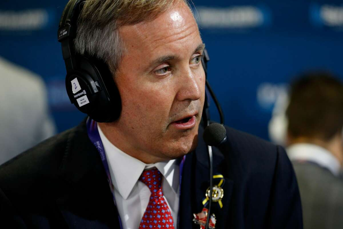 Ken Paxton's legal troubles just got the ukulele treatment. (Photo by Kirk Irwin/Getty Images for SiriusXM)