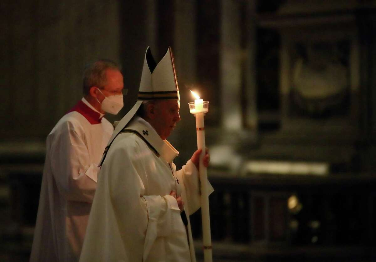 Pope Francis celebrates Holy Mass in the Vatican Basilica on the occasion of the feast of the Presentation of the Lord (Candlemas), Feb. 22. Many Catholics and others facing the upcoming Lent are wondering after a year of pandemic sacrifices, what's left to give up?