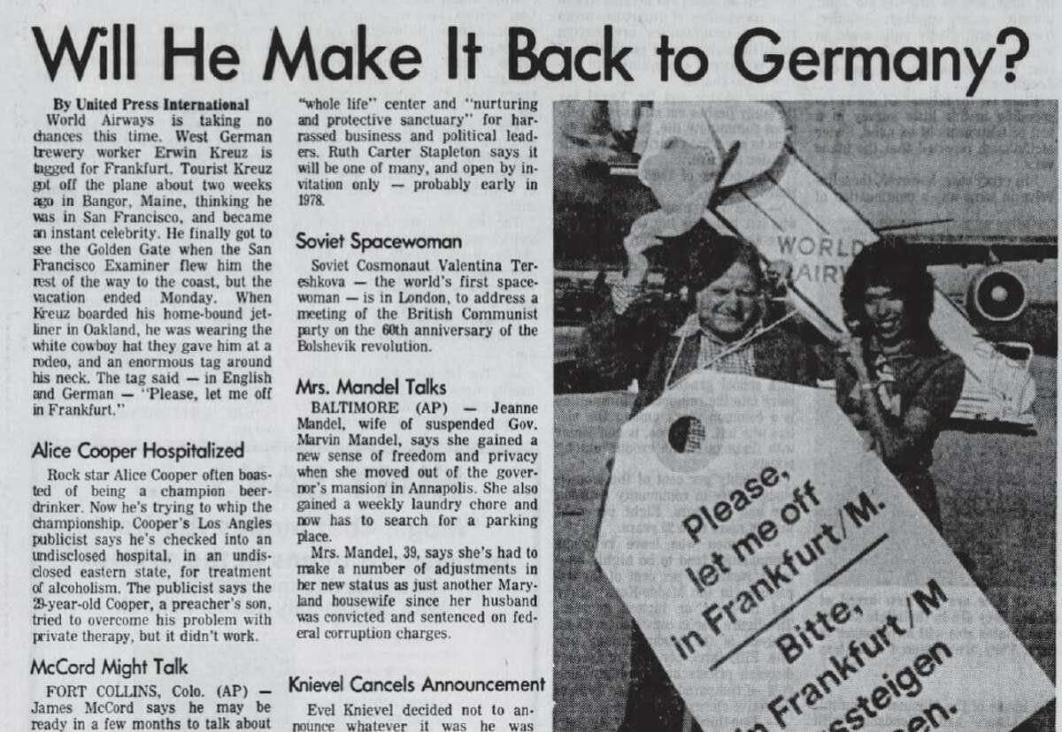 The Town Talk, 1. November 1977.