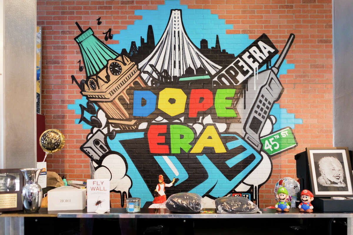 Dope Era clothing shop in Oakland, founded by rapper Mistah Fab in 2011.