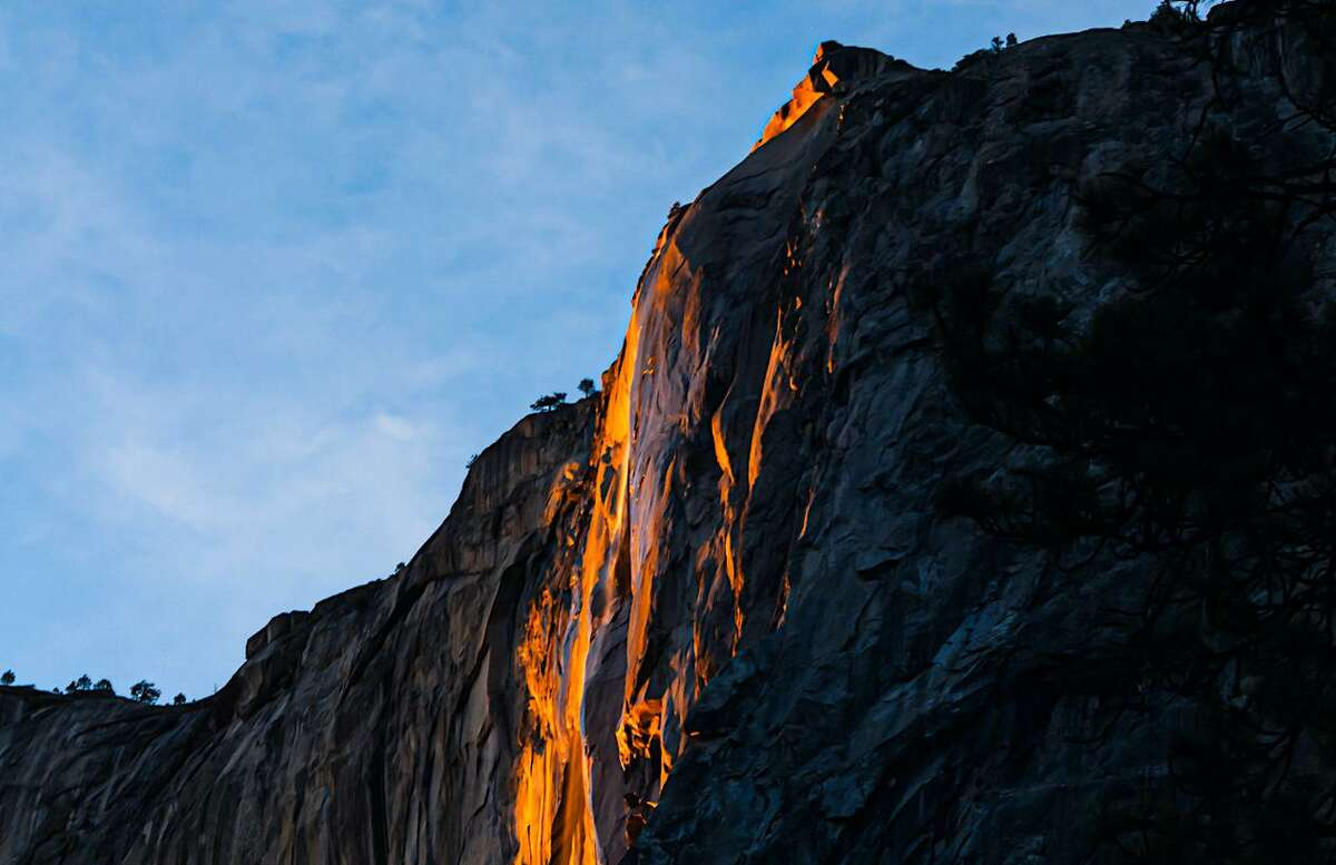 Photographer Lee DeCovnick says of the glowing Horsetail Fall:
