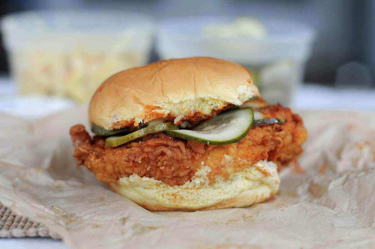 Warning: the spicy chicken sandwich from Motel Fried Chicken absolutely brings the heat.