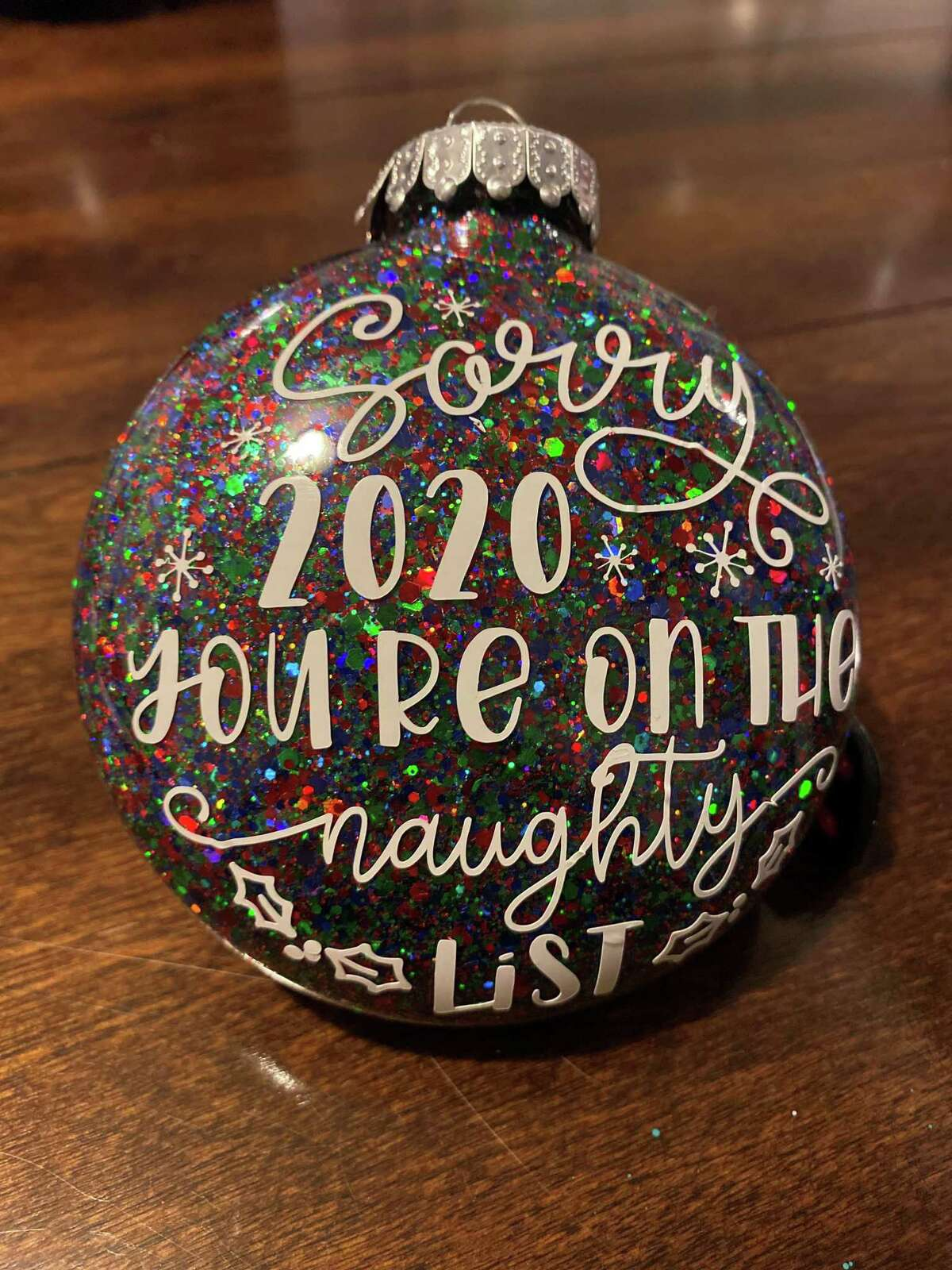 Robin Feyeraband is opening The Robin's Nest Glitters on Water Street in March. Above, a custom holiday ornament.