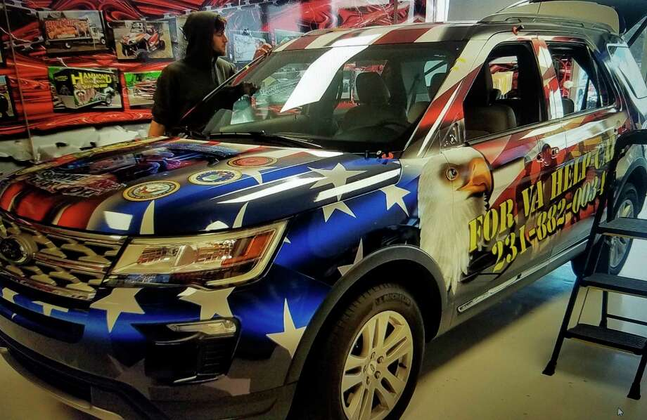 The Benzie County Office of Veterans Affairs is using anew Ford Explorer to advertise its services and provide outreach to area veterans. (Courtesy Photo)
