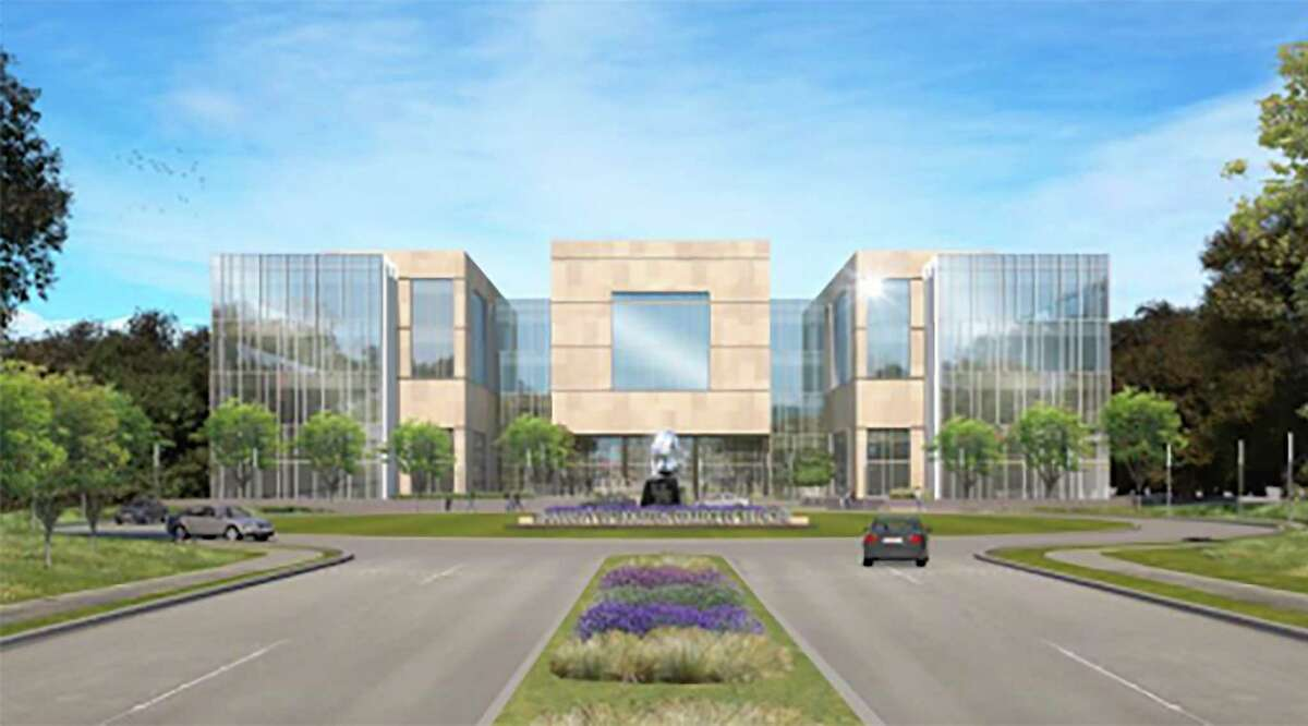 Artist's rendering of the front of the planned UH College of Medicine.