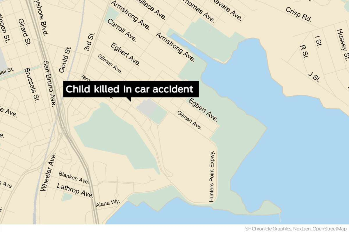 Officers responding to reports of a crash found the child suffering from life-threatening injuries on the 900 block of Ingerson Avenue at 10:11 a.m. The driver stayed at the scene of the accident.