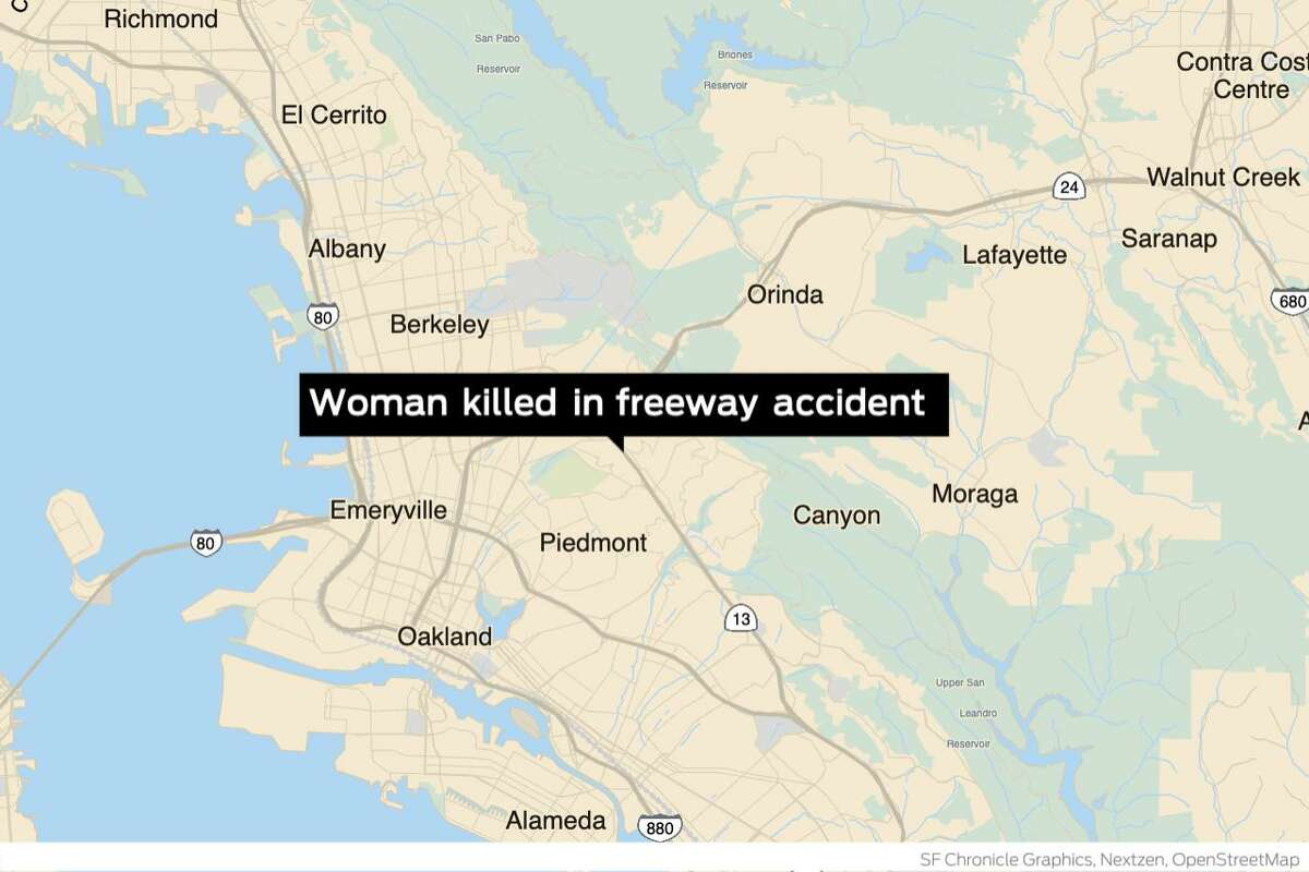 One woman was killed and another seriously injured Wednesday when their stalled car was struck by a pickup truck while they were standing outside the vehicle on the shoulder of an Oakland freeway, the California Highway Patrol said.