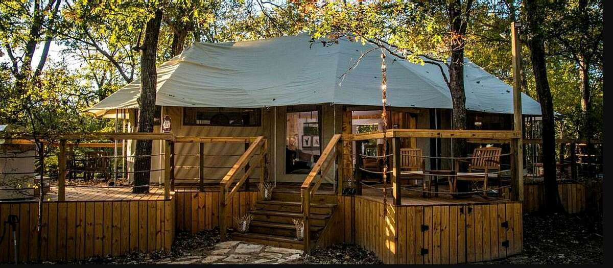 Luxury tent: 4 hours from Houston.