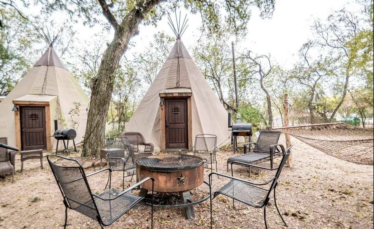 Traditional tipis, modern interiors: 2 hours and 49 minutes from Houston.