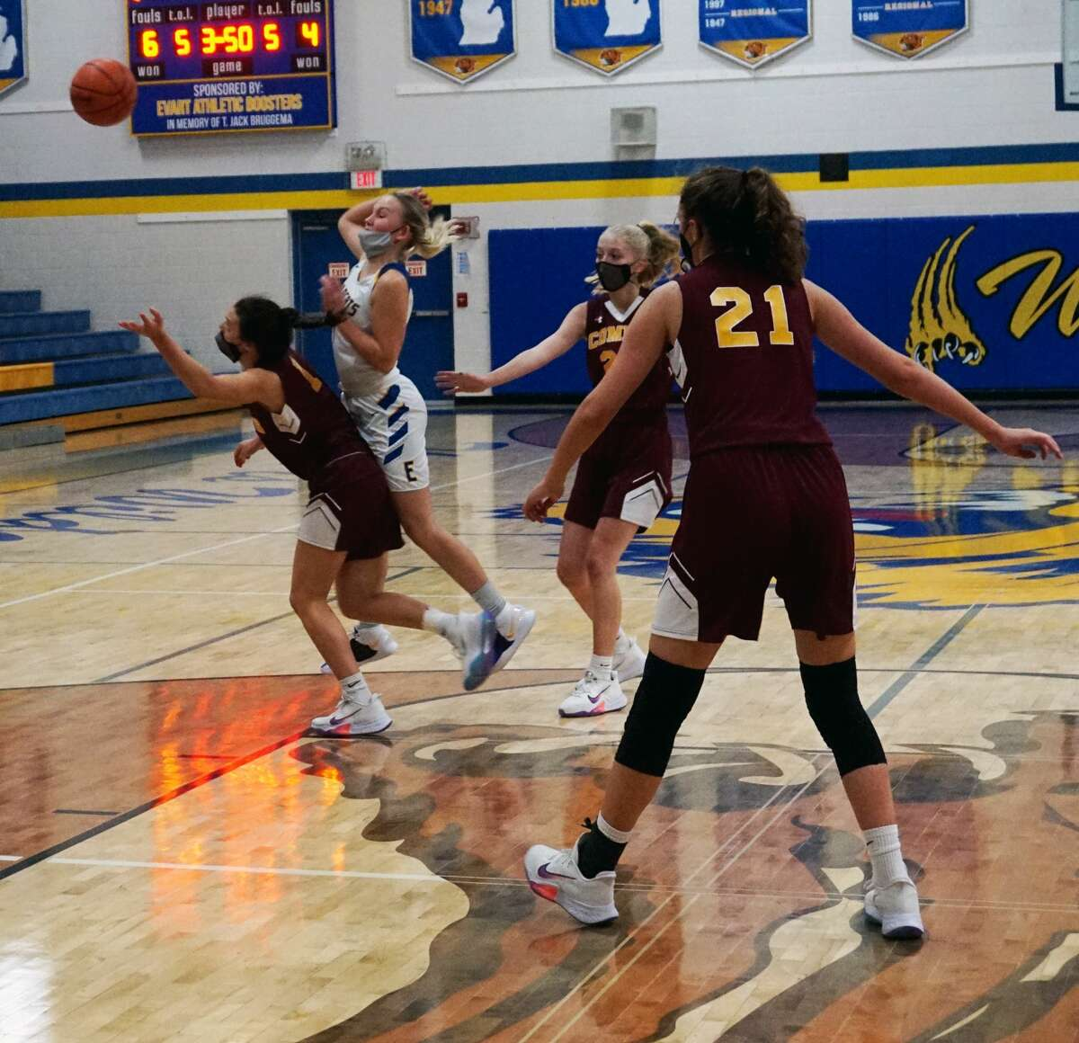The Evart girls' basketball team was defeated by McBain Northern Michigan Christian to open the 2021 season on Wednesday evening.