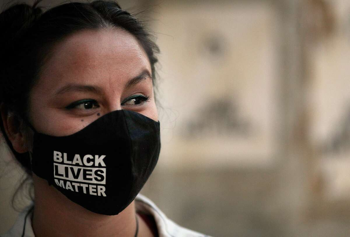 Kimi Stout wore this Black Lives Matter face mask when she felt pressured to quit her job at acclaimed Sonoma restaurant the Girl & the Fig.