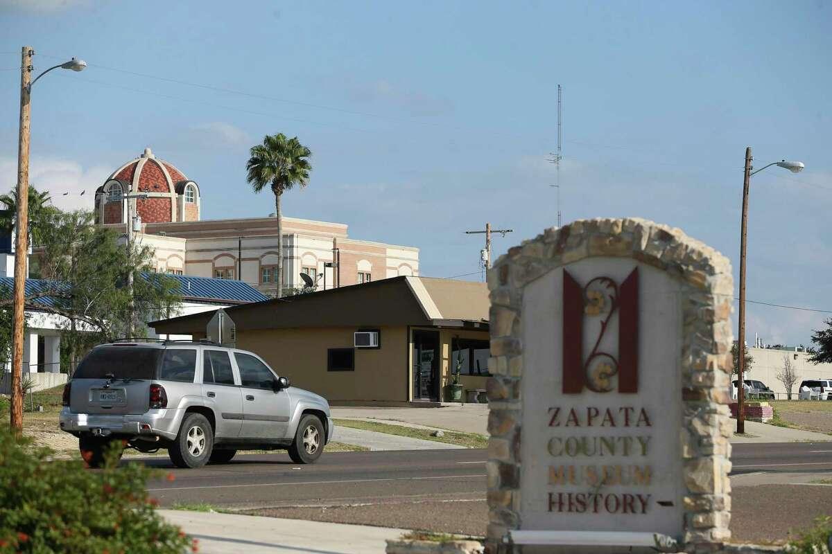 Traffic moves along U.S. 83 through Zapata, Texas, Wednesday, Nov. 11, 2020.
