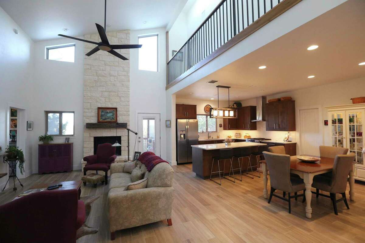 View of the great room. After decades working in the construction industry Jack and Carol Banowsky finally built a home of their own in Boerne.