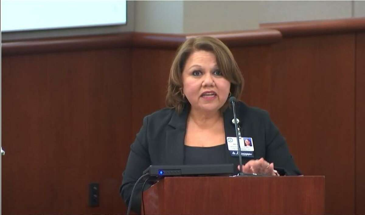 Chief of Staff Linda Macias presented statistics showing a drop in reading and math level mastery across Cy-Fair ISD.