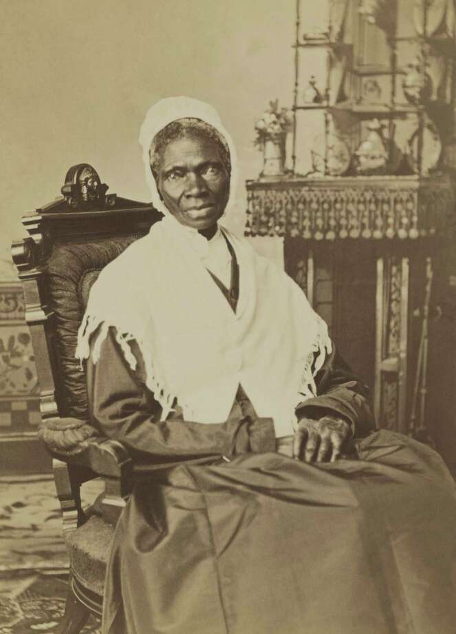 Sojourner Truth is pictured, circa 1870.An ex-slave,she preached against the cruelties of slavery and for human rights for African Americans and women. She lived in Battle Creek, Michigan.(Courtesy photo)