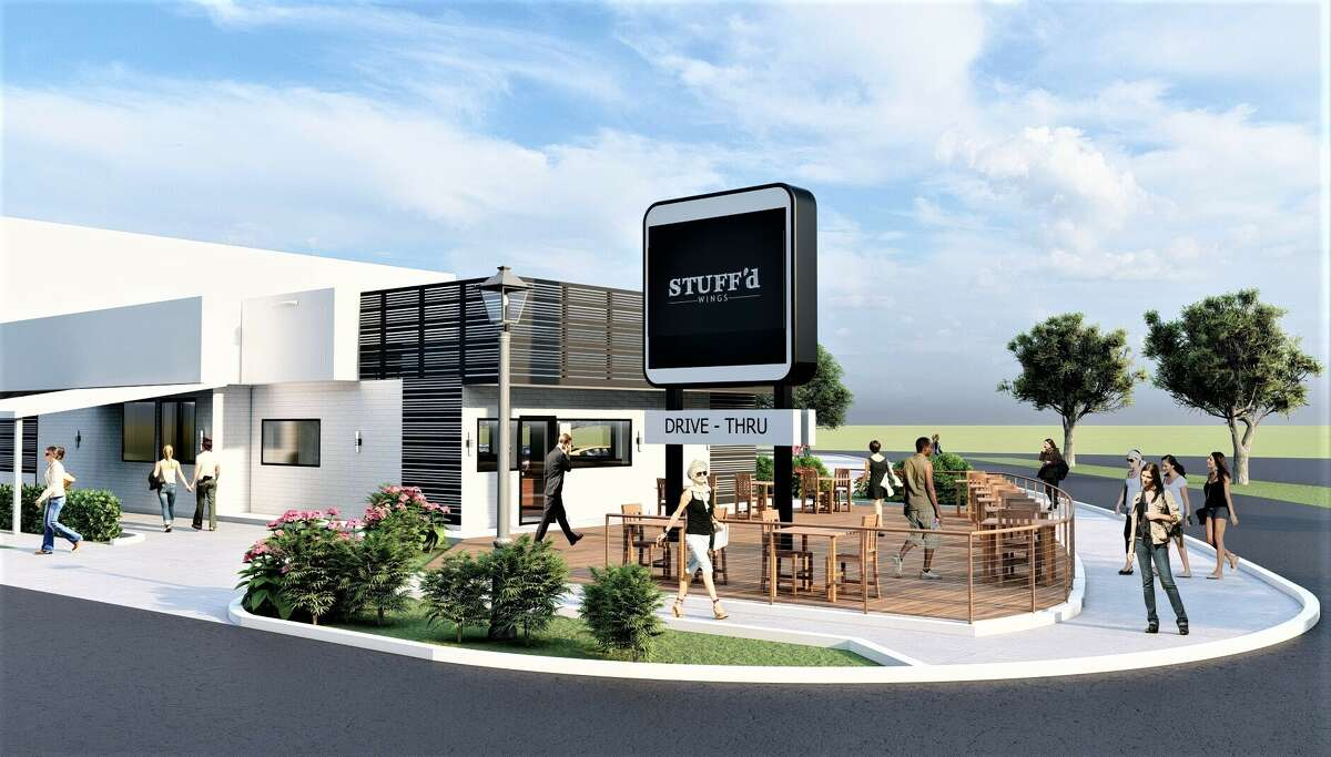 Rendering of Stuff'd Wings restaurant that will be among the culinary offerings at The Ion and surrounding Innovation District, the Rice University project being developed at the former Sears in Midtown and surrounding blocks as part of the university's Ion innovation hub.