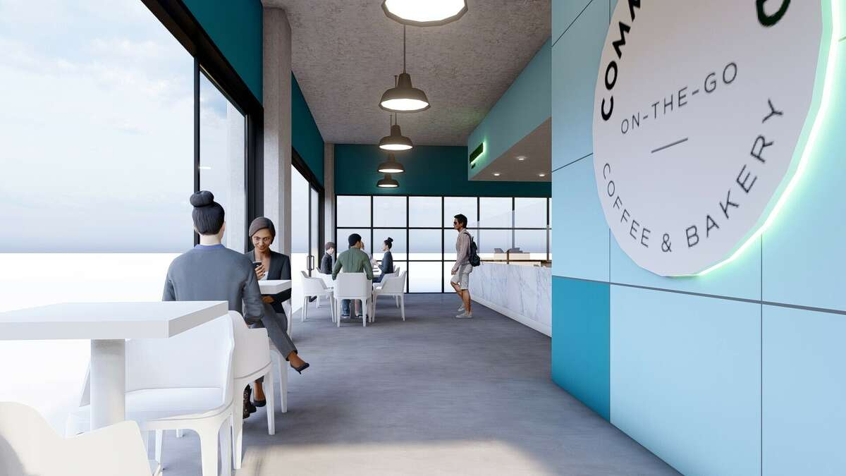 Rendering of Common Bond restaurant that will be among the culinary offerings at The Ion and surrounding Innovation District, the Rice University project being developed at the former Sears in Midtown and surrounding blocks as part of the university's Ion innovation hub.