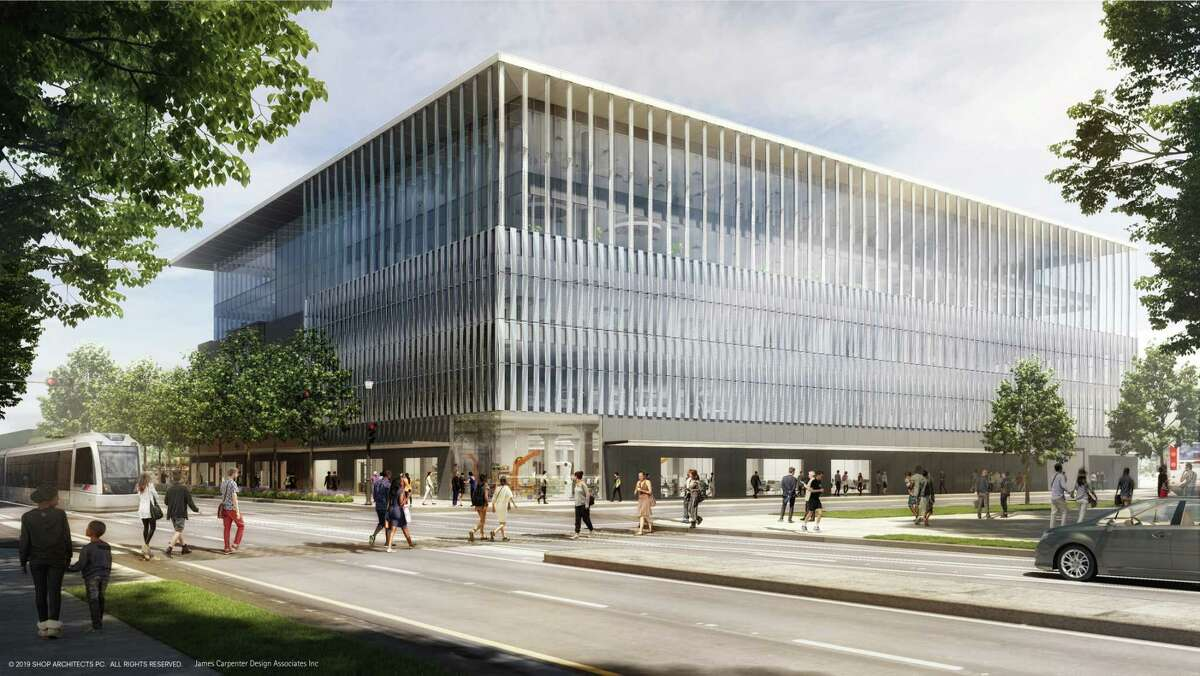 Rendering of The Ion, the Rice University project being developed at the former Sears in Midtown and surrounding blocks as part of the university's Ion innovation hub.