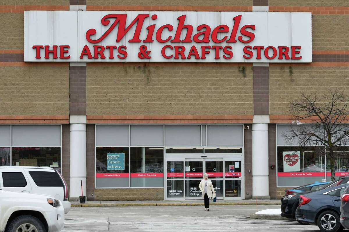 Exterior of arts and crafts store Michaels at Crossgates Commons on Thursday, Feb. 11, 2021 in Guilderland, N.Y. (Lori Van Buren/Times Union)
