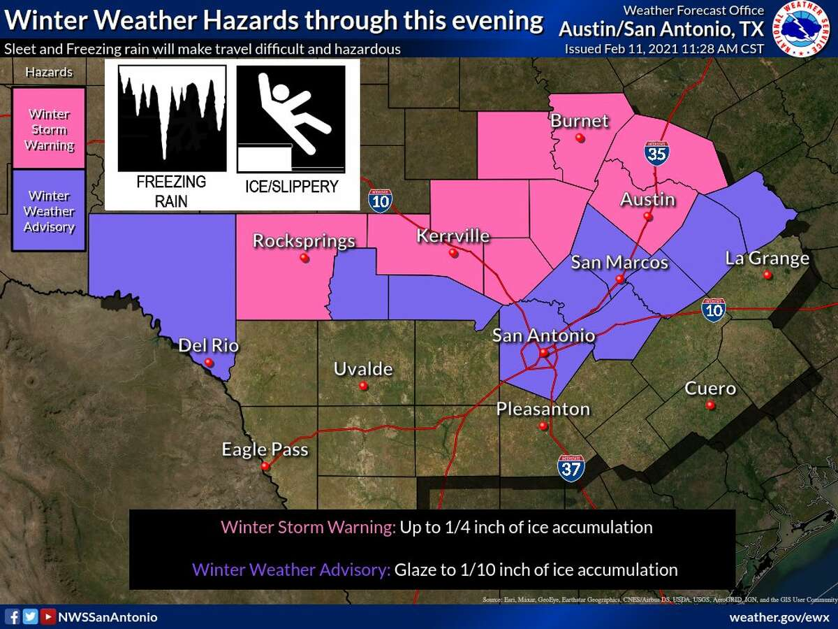 The National Weather Service added Bexar County to a Winter Weather Advisory on Thursday.
