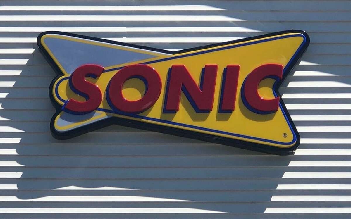 The sign for the Sonic in New Milford, which opened in 2020.
