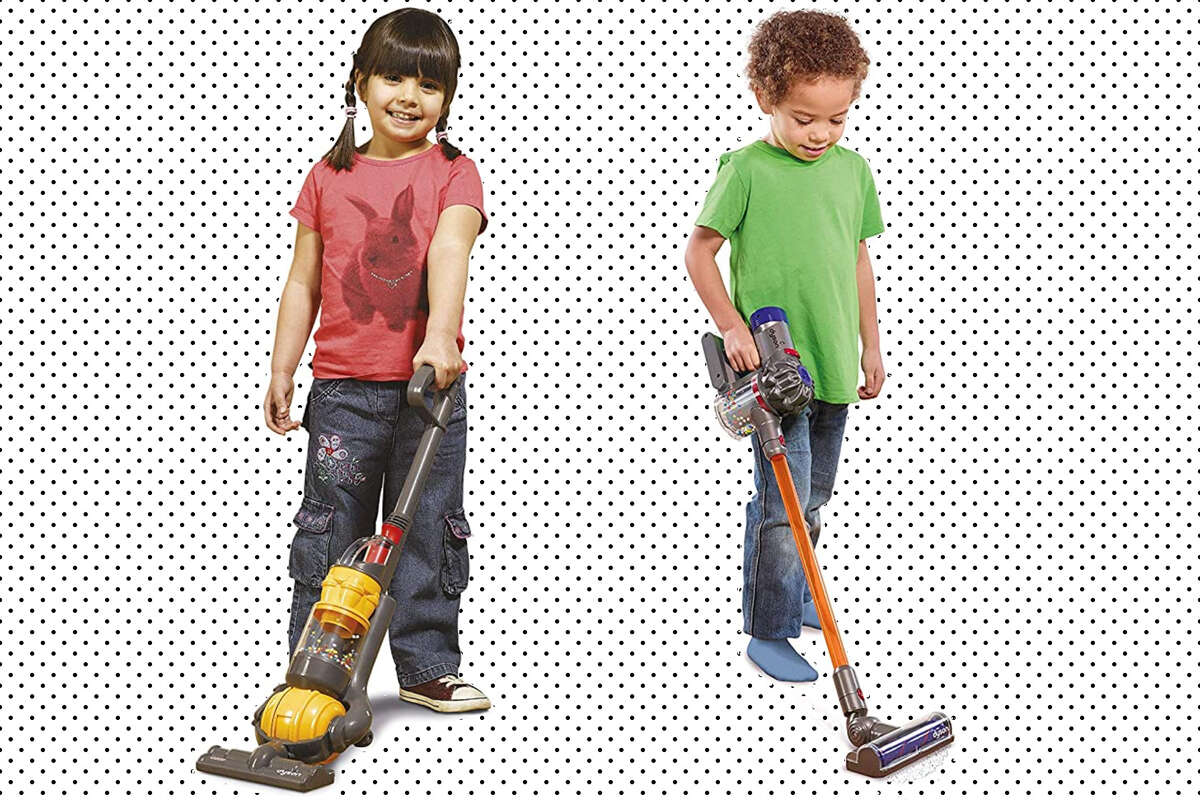 Casdon - Dyson Toy Ball Vacuum and CASDON Little Helper Dyson Cord-Free Vacuum Cleaner Toy