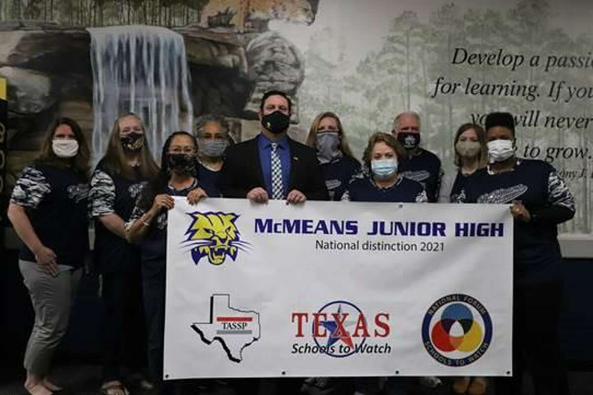 For the third time, McMeans Junior High in Katy Independent School District has been designated as a Texas School to Watch by the National Forum to Accelerate Middle-Grades Reform and the Texas Association of Secondary School Principals.