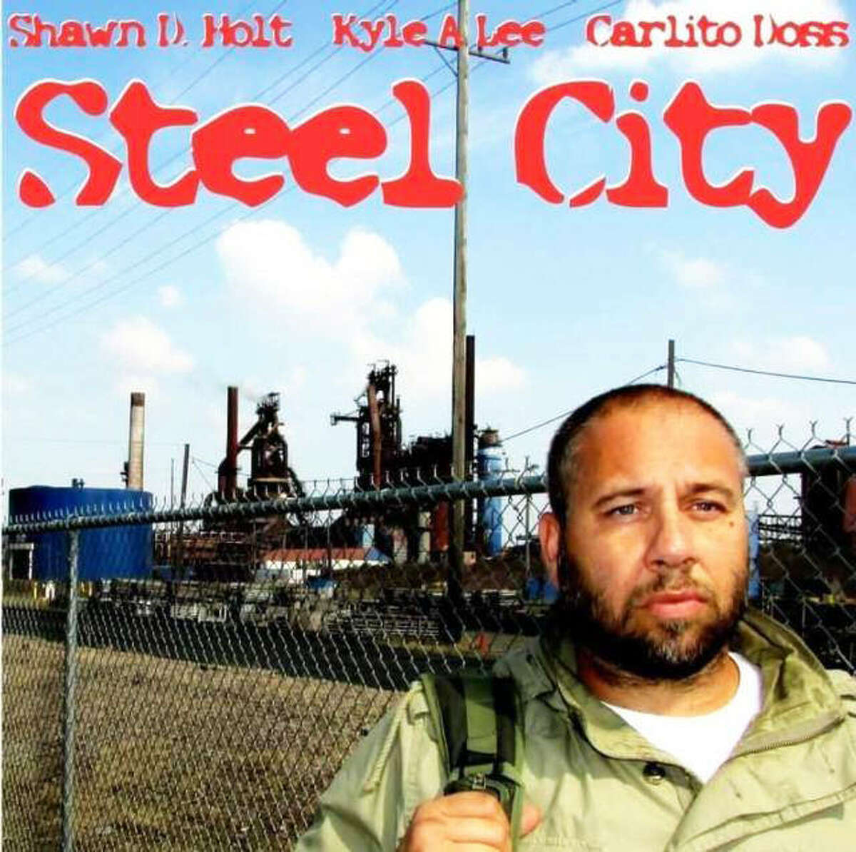 """Granite City High School graduate Shawn D. Holt, foreground, stars in """"Steel City G.C.,"""" an independent film shot entirely in Granite City in partnership with Phoenix-Jagger Studios and Red Reflection Industrial Ink, the latter owned by southern Illinois filmmaker Elle Mercurio-Cherrier. """"Steel City G.C."""" is scheduled for release July 4."""