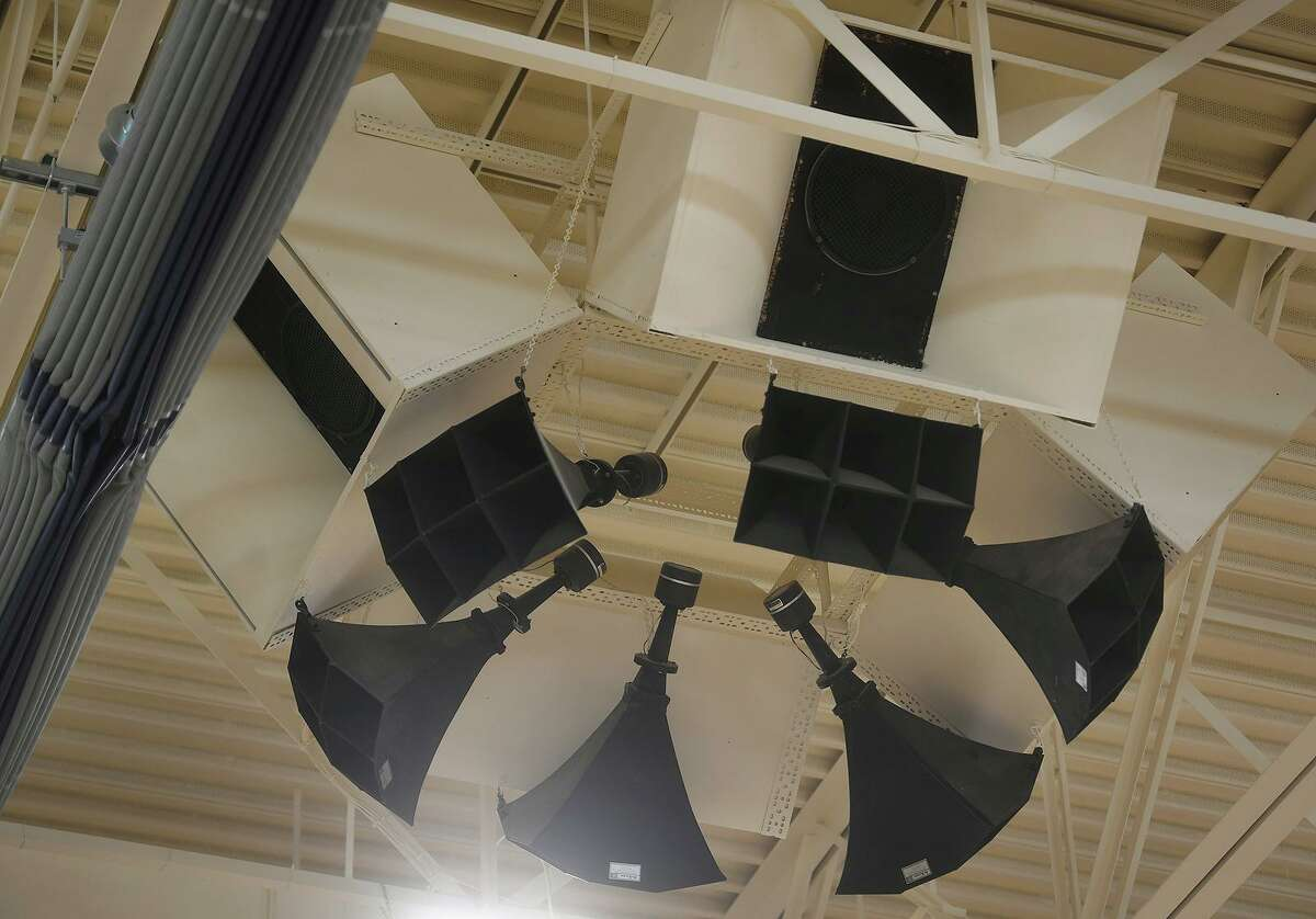 A new divider and sound system are among the many new upgrades to the field house at Haddam-Killingworth.