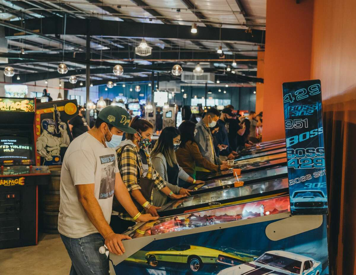 The newly opened Bishop Cidercade in EaDo lets visitors play retro arcade games all day for $10.