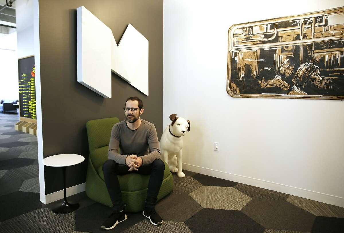CEO Ev Williams at the headquarters of Medium in San Francisco.