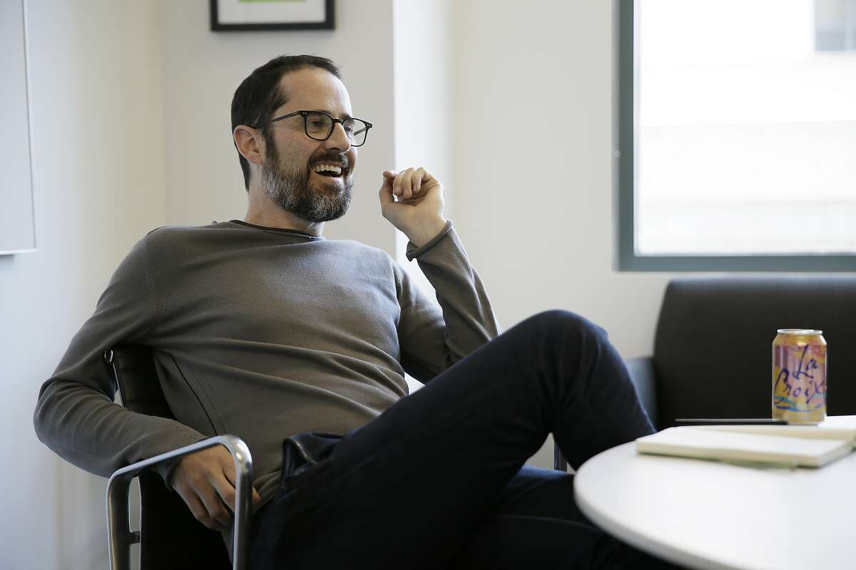 In this May 30, 2018, photo CEO Ev Williams during an interview at the headquarters of Medium in San Francisco. (AP Photo/Eric Risberg)