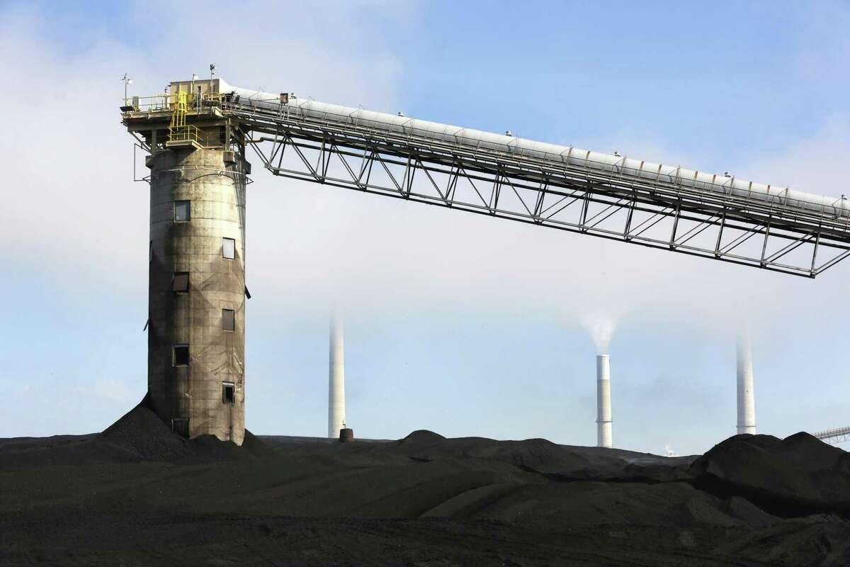 A coal conveyor belt.