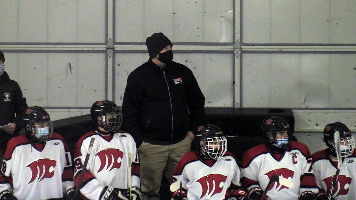 Andy Townsend is coaching both the boys and girls ice hockey teams at Masuk this season.