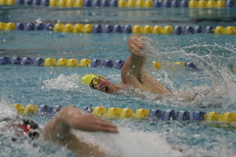 The Manistee boys swim team cruised to a convincing victory over Fremont on Thursday night at the Paine Aquatic Center in the team's long awaited season opener. Photo: Dylan Savela/News Advocate