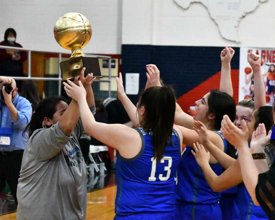 The Olton Fillies outlasted Ralls 49-47 to win their first bi-district title since 2014 on Thursday night in the Dog House. Photo: Nathan Giese/Planview Herald