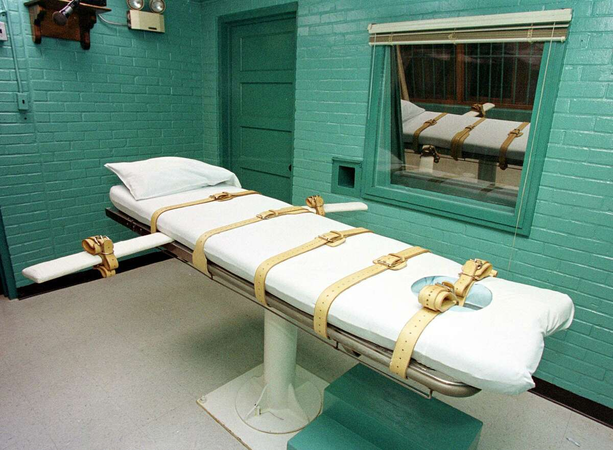 """The """"death chamber"""" at the Texas Department of Criminal Justice Huntsville Unit in Huntsville, Texas."""