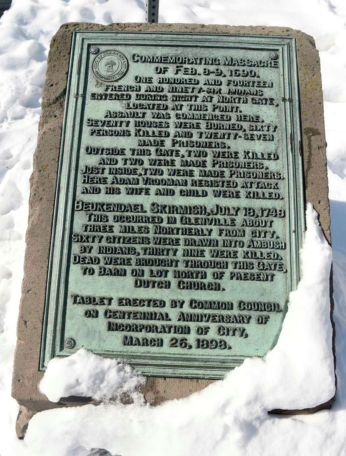 """FILE. Letter writer says, 'The Schenectady massacre (""""Church remembers 1690 massacre,"""" Feb. 13) was not a stand-alone event. It should be seen in the context of ongoing wars over the lucrative fur trade in North America.' (Lori Van Buren/Times Union)"""