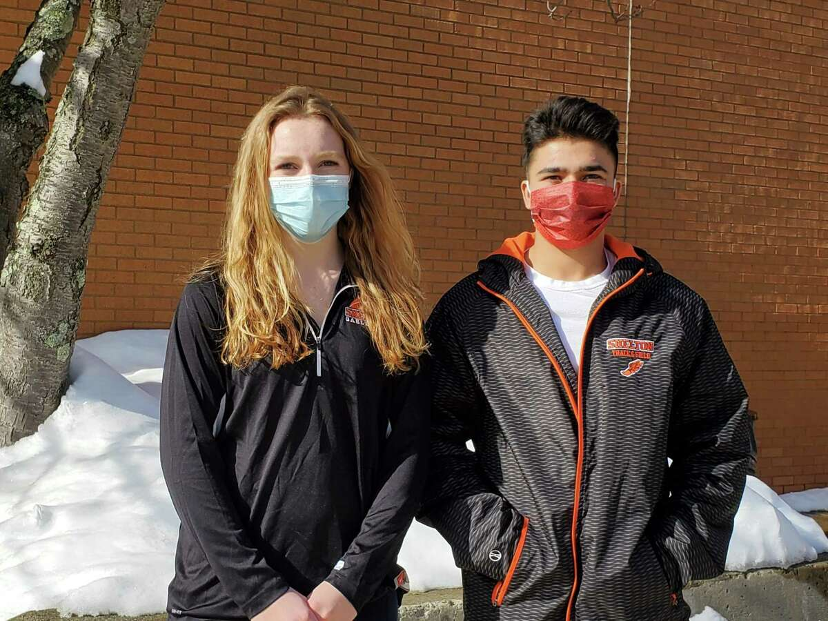 Keira O'Connor and Joshua Zamani earned SCC honors for excellence in the classroom and athletics.