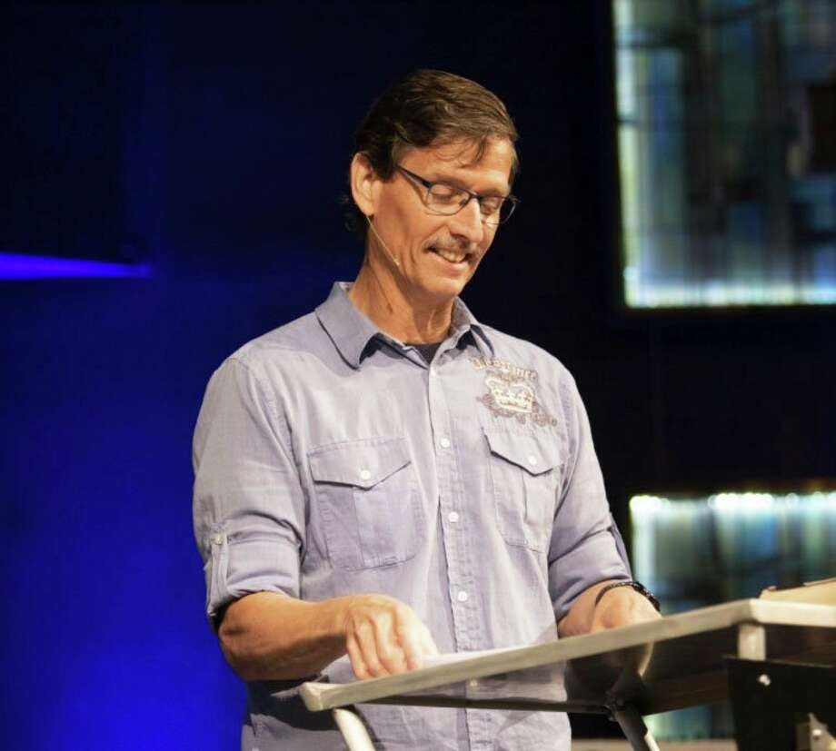 Mike Smith, the founder of We the County, during a service at Life Song Church in Snover. The group he founded has expanded to include 800 members in 67 Michigan counties and 17 states in the five months since it started. (Courtesy Photo/Life Song Church)