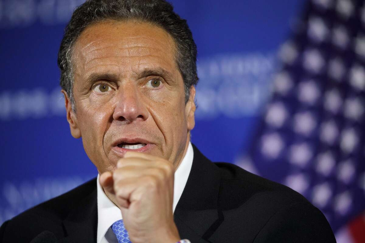 FILE. Letter writer says, 'I'm glad I live in New York, where Cuomo has instituted reasonable COVID-19 control measures, rather than in a state controlled by a Republican governor who refuses to mandate masks or social distancing.' (AP Photo/Jacquelyn Martin, File)