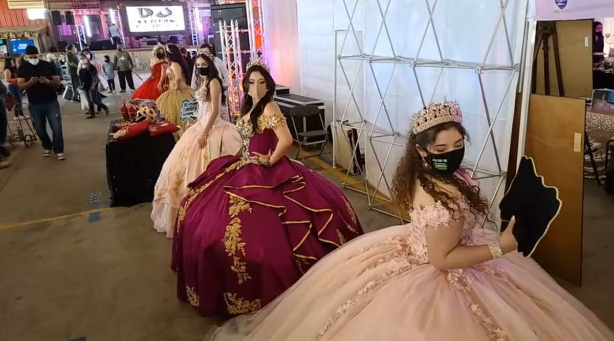 Traders Village Houston hosts the Quinceañera Expo event Feb. 7, 2021, with health and safety precautions in place.